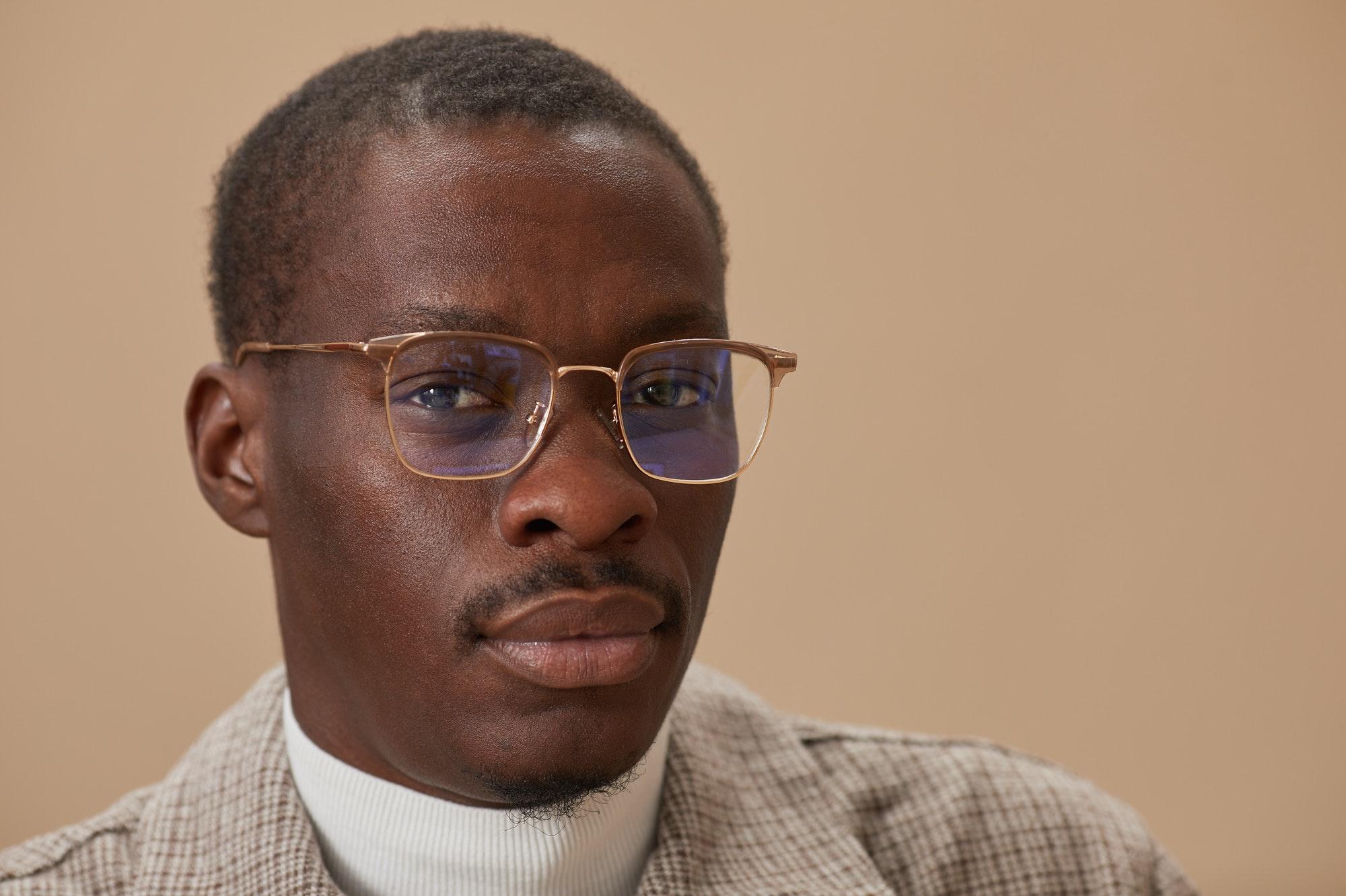 African man in eyeglasses